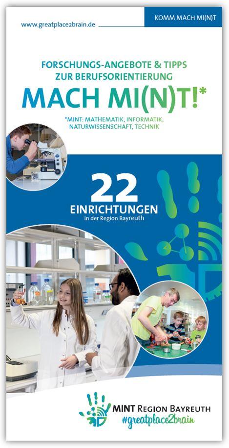 MINT-Broschüre mit allen Angeboten aus der MINT-Region Bayreuth
