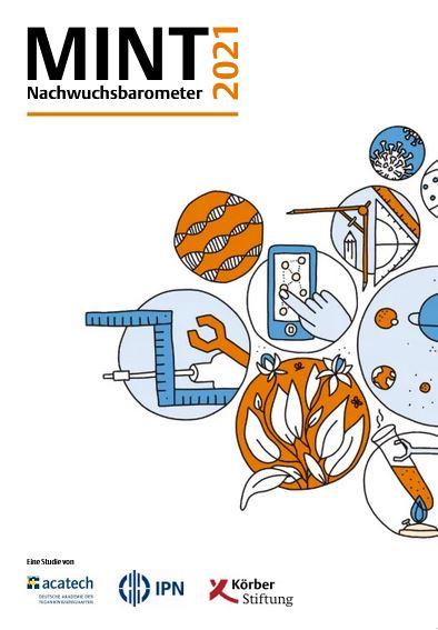Titelseite des MINT Nachwuchsbarometer 2021