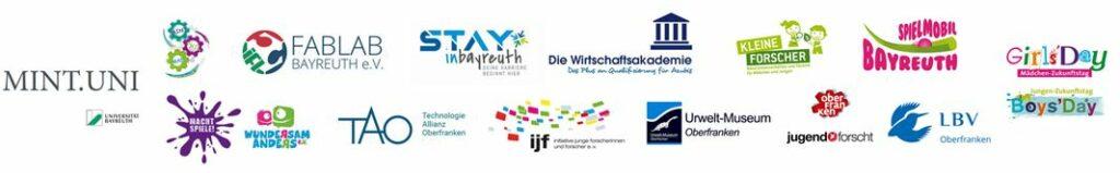 Logos der MINT-Anbieter in der MINT-Region
